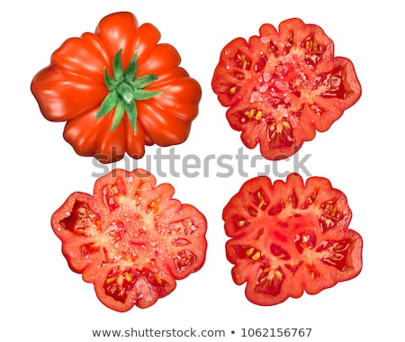 Costoluto di parma Ribbed tomato, top, paths Stock photo © maxsol7