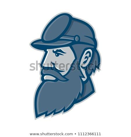 Geral mascote ícone ilustração cabeça comandante Foto stock © patrimonio