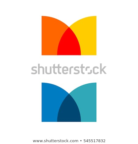 Geometrik daire mektup m simge logo Stok fotoğraf © blaskorizov