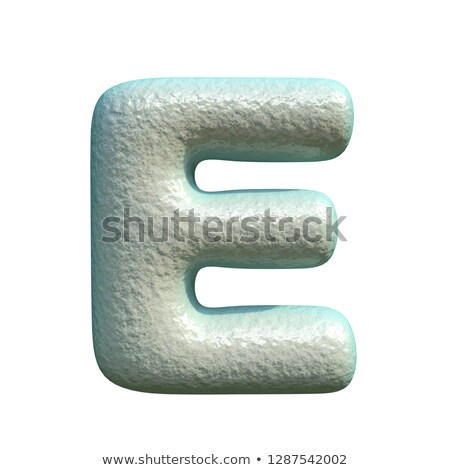 grey blue clay font letter e 3d stock photo © djmilic