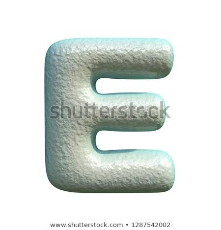 серый синий глина шрифт 3D Сток-фото © djmilic