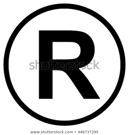 Registered Trademark symbol. Vector illustration Isolated on white background. Stock photo © kyryloff