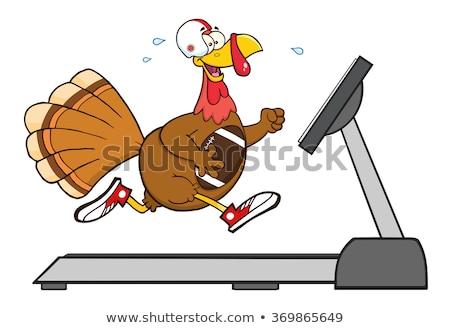 Futbol Türkiye kuş çalışma ayak değirmeni Stok fotoğraf © hittoon