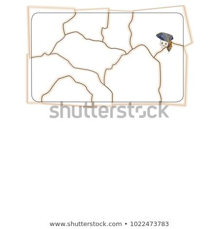 Croquis forme déchirée pirate carte espace Photo stock © Lady-Luck