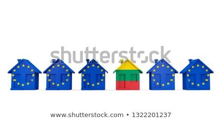 Casa bandera Lituania ue banderas Foto stock © MikhailMishchenko