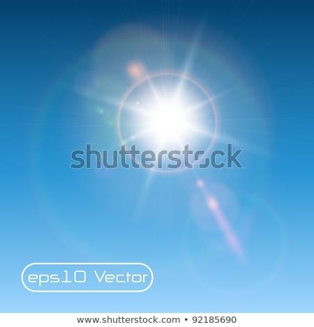 Vecteur soleil lumière lentille bleu flare Photo stock © netkov1