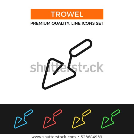 vector set of trowel stock photo © olllikeballoon