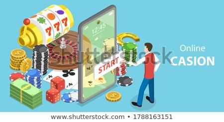 vetor · números · ícones · branco · assinar - foto stock © robuart