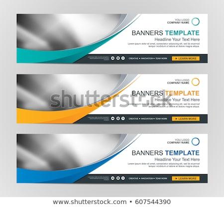 Web business banner netwerk globale technologie Stockfoto © alexaldo