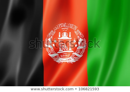 Waving Flag of Afghanistan Stock photo © nazlisart