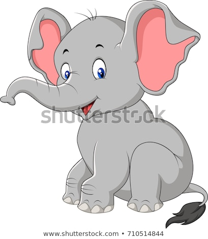African elephant cartoon animal character Stock photo © izakowski