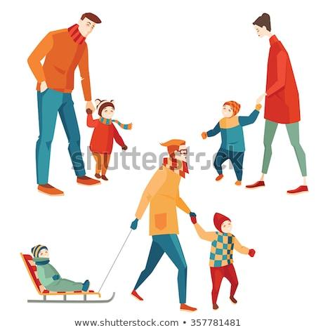 幸せな家族 · 服 · 白 · ビッグ · 家族 - ストックフォト © robuart
