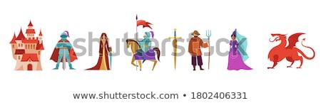 騎士 王女 実例 図書 図面 漫画 ストックフォト © colematt