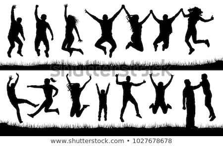 vector set of people jumping stock photo © olllikeballoon