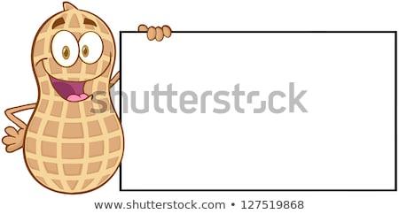 Maní aislado blanco Foto stock © hittoon