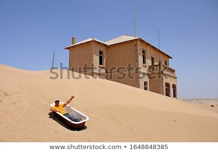 заброшенный здании пустыне Намибия комнату путешествия Сток-фото © emiddelkoop