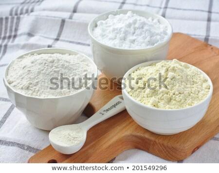 小麦粉 · でんぷん · 木製 · キッチン · スプーン · 紙 - ストックフォト © melnyk