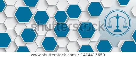 Hexagon Structure Beam Balance Header Stock photo © limbi007