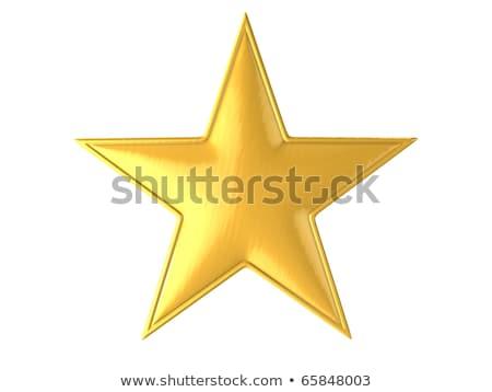 Cam sarı star ikon imzalamak Stok fotoğraf © lemony