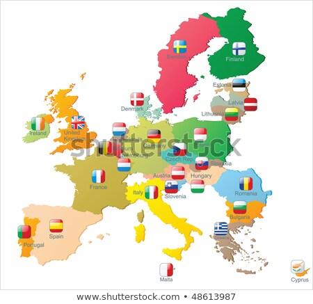 Czech Republic Poland Austria Belgium And Greece Vector Maps Stock photo © mart