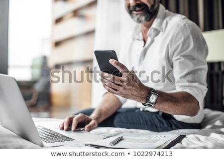бизнесмен · сидят · кофе · папке · человека - Сток-фото © dolgachov