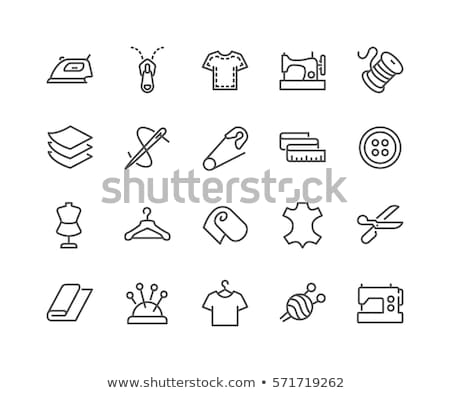 Sewing Zip Line Icon Stock photo © angelp