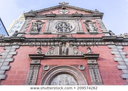 église Madrid central Espagne ville croix Photo stock © borisb17