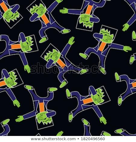 Halloween grafikus nyomtatott rövidujjú póló jelmezek díszítések Stock fotó © JeksonGraphics