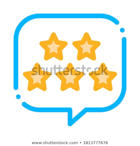 Five Stars In Text Box Frame Vector Thin Line Icon Stock photo © pikepicture