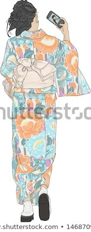 Японский женщины кимоно фотографий вектора Сток-фото © robuart