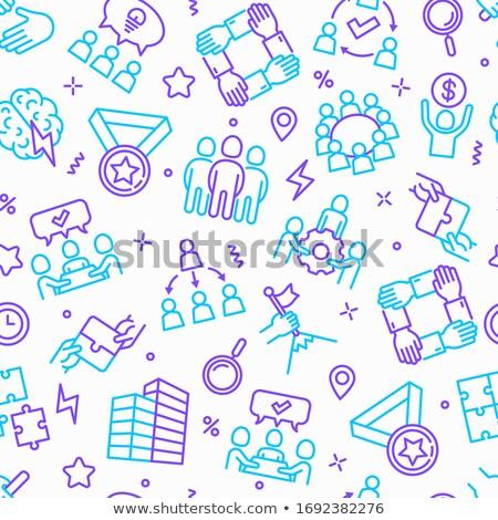 Teamwork and Startup Seamless Pattern, Business Stock photo © robuart