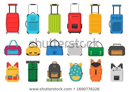 Suitcase On Wheels With Handle Vintage Vector Stock photo © pikepicture