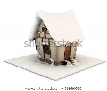 Fabulous winter house with snowy roof Stock photo © Kotenko