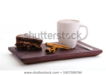 カップ 木製 トレイ クローズアップ 務め ストックフォト © nito