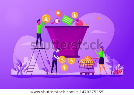 Lead Generation Sales Funnel Business Concept Stock photo © ivelin