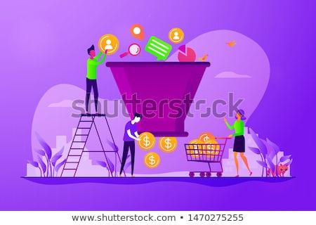 sprzedaży · lejek · pokolenie · działalności · niebieski - zdjęcia stock © ivelin