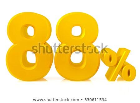 eighty eight percent on white background. Isolated 3D illustrati Stock photo © ISerg