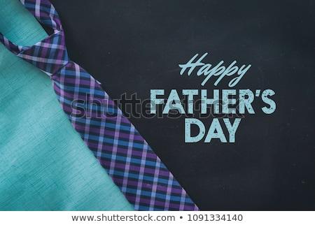 gün · tebrik · kartı · dizayn · adam · mutlu · kravat - stok fotoğraf © cienpies