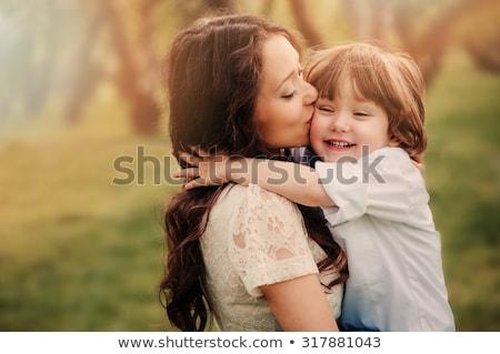 Heureux affectueux jeunes mère fils Photo stock © galitskaya