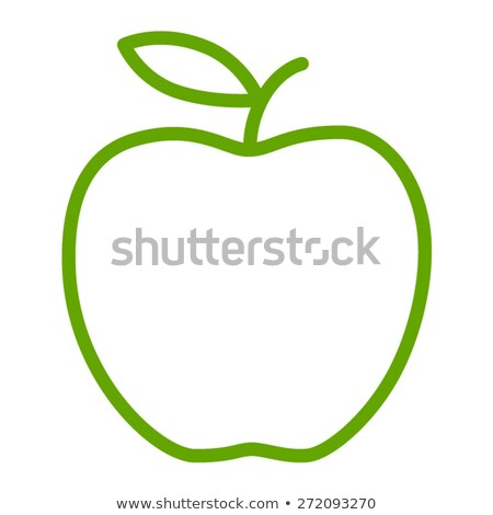 green line art apple stock photo © cidepix