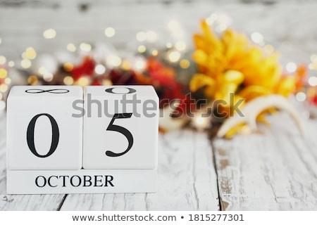 Cubes calendar 5th October Stock photo © Oakozhan