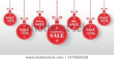 Final Christmas Sale Discounts on Xmas Holidays Stock photo © robuart