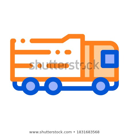 Agricultural Big Cargo Truck Vector Thin Line Icon Stock photo © pikepicture
