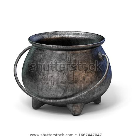 Empty iron cauldron 3D Stock photo © djmilic