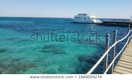 Panoramas of the red and mediterranean sea without people, on a sunny bright day Stock photo © ElenaBatkova