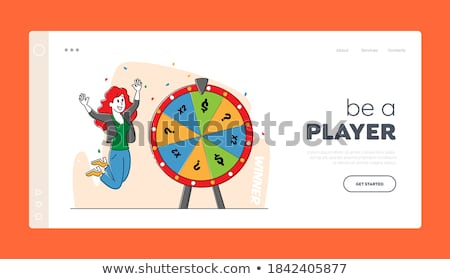 Casino Fortune Wheel, Woman Player, Lottery Vector Stock photo © robuart