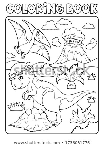 Coloring book dinosaur subject image 7 Stock photo © clairev