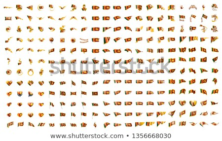 very big collection of vector flags of the Sri Lanka Stock photo © butenkow