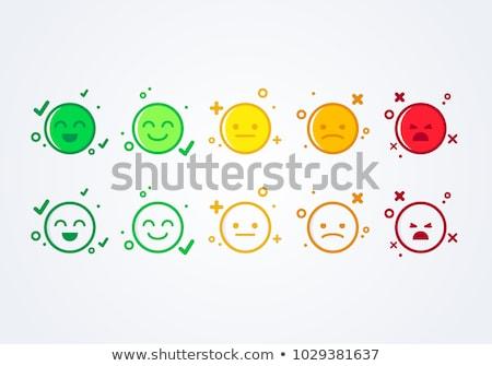 Neutral cara emoticon satisfacción nivel Foto stock © evgeny89