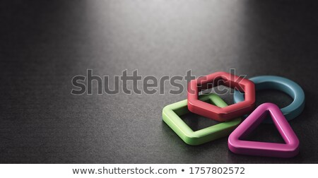 3d basic shapes over black background. Stock photo © olivier_le_moal